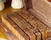 Vintage Letters and Numbers stamp set 70pc craft rubber stamps