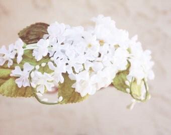 white bridal flower crown, wedding hair accessories, wedding flower wreath silk flower headband