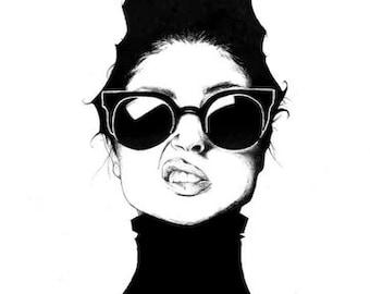 """Landy in Black 13x19"""" Fine Art Print"""