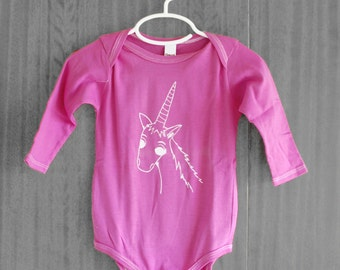 Baby Girl, Bodysuit, Unicorn shirt, princess, pink, longsleeve, cute baby clothes, infants, SALE