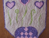 Quilted Valentine Heart Wall Hanging