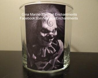 Halloween CREEPY Clown votive-tea light holder