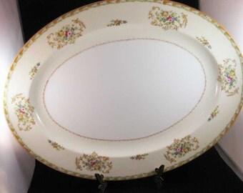 """ROYAL DERBY Oval Platter Japan 16-3/4"""""""