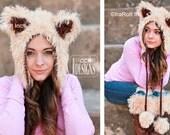 CROCHET PATTERN Furry Foxy Cat Hat Bonnet Crochet PDF Pattern