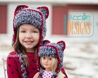 PATTERN Dream Cloud Kitty Bear Hat Crochet PDF Pattern Instant Download