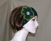 Headband Hippie - Two - Toned -  Adjustable Size  - Removable Flower Brooch