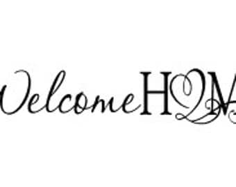 Welcome Home Vinyl Wall Decal Welcome Wall Decal