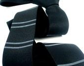 Skinny Tie in Jet Black - Screenprinted Men's Tie - on trend spring/summer 2016 - Gift Wrapped