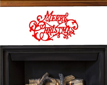 Merry Christmas Wall Decal Removable Christmas Wall Sticker