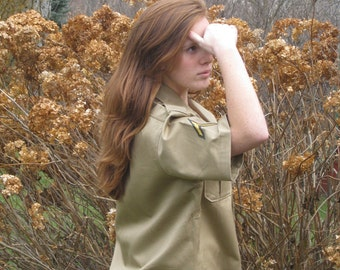 Military Shirt 1957 Authentic Issue New Old Stock Khaki 1950s Man Woman Unused Genuine Military Nice Vintage Gift