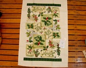 Kay Dee Designs Christmas Linen Towel New With Tag Holly Mistletoe