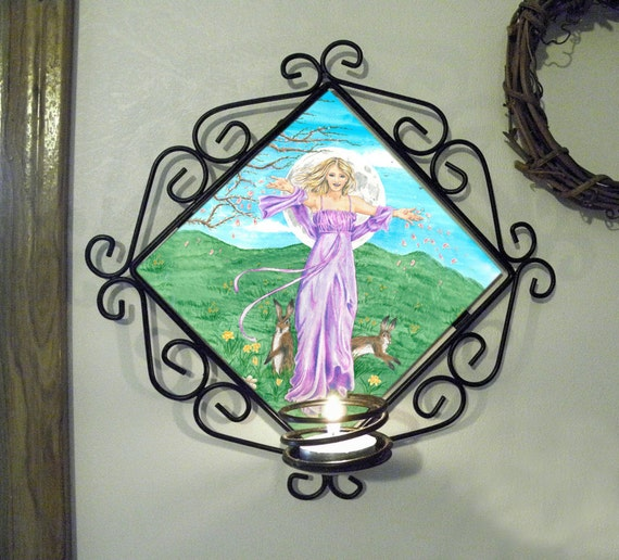 Ostara Wall Candle Sconce