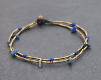 Lapis Simple Clean Anklet