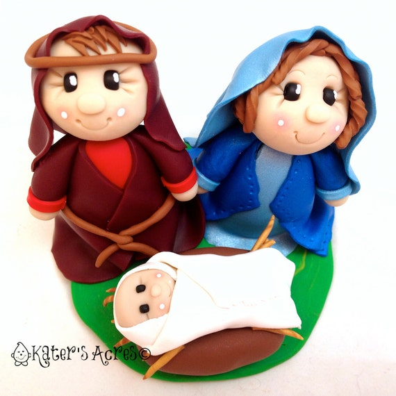 3 Piece Nativity Set by Katie Oskin of KatersAcres