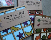 Tic Tac Toe - Stars and Moons - hand made and laser cut wooden game