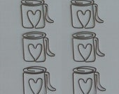 Maya Road Metal Vintage Trinkets - Love My Cup of Joe - Maya Road Paper Clips, Coffee, Java