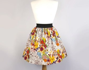 Day of the Dead  Sugar Skull Skirt