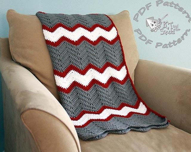 Crochet Afghan Pattern Chevron Blanket Pattern Crochet Throw