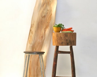 SALE Butcher Block Rustic Kitchen Island Stand