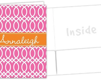 Monogrammed Pocket Folder - Sorority Folder
