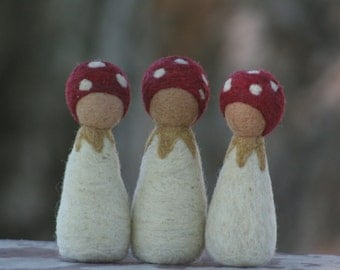 Forest Children/ Mushroom Baby Rattle