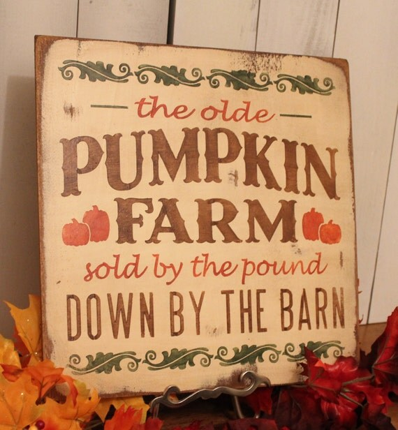 Items Similar To Pumpkin Farm Sign Fall Sign Fall Decor