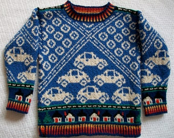 Knitting Pattern: Cars Size Four Years