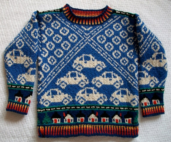 knitting pattern cars size four years