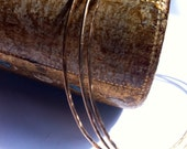 Thin Gold Bangles, Trio of Stacking Bangles, 14 KT Gold Filled Hammered Bangles