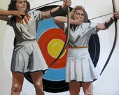 """Two Archers: 11x11"""" Archival Print - Signed"""
