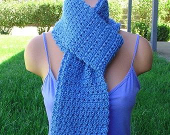Handmade SRA Crochet Scarf Blue