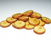"16 Handmade  apple wood buttons, accessories (1,1"" diameter x 0,20"" thick)"