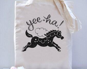 Yeeha! Horse Tote Bag
