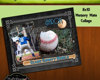 8x10 Memory Mate Batter Up Baseball Collage or Storyboard Now Available for INSTANT download  PSD Template