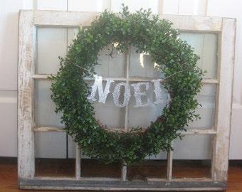 NOEL gothic Christmas Glitter Letter Banner Garland