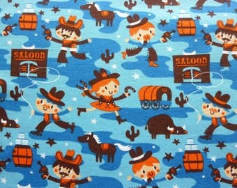 "Lillestoff Stretchjersey ""Cowboy"" by Deborah van de Leijgraaf Organic Cotton Jersey Fabric"