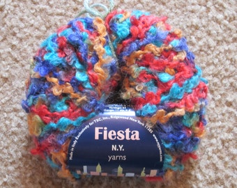N.Y. Yarns Fiesta Yarn ID No. 38070 Color No. 5 DISCONTINUED