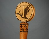 Custom Beer Tap Handle Personalized Your Brewing Logo with Woodburning - Made to Order