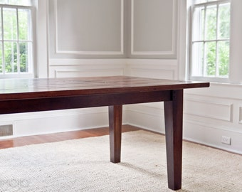 Tapered Leg Dining Table - Reclaimed wood - Custom Furniture