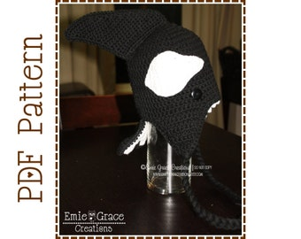 Crochet Orca Hat Pattern, Killer Whale Ear Flap, OLIVER ORCA - pdf 118
