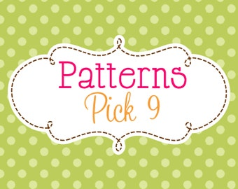 9 Crochet or Knitting Patterns Savings Pack, PDF Files, Permission to Sell Finished Items, Bundle Deal