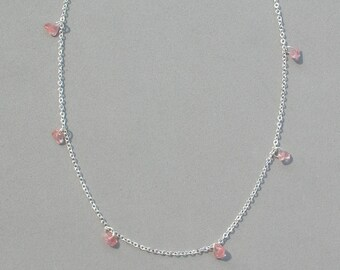 Pink Stone Chip Necklace