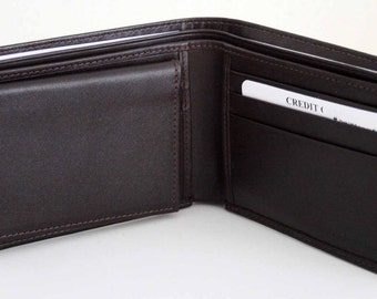 Genuine Soft Leather Basic Men Wallet, Bifold, with removable ID wallet, 1990's collection