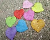 Multi Colored Lucite Leaf Charm/Pendant 20 pcs 15x15  mm(Item Number PL591)