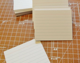 200 Half Size Index cards ,  vertically oriented white cards
