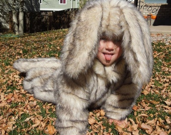 Furry Dog Costume for Toddler/Child