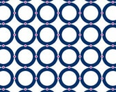 Camelot Fabric's, In the Navy, Rings (Navy) 4140502 1 yard