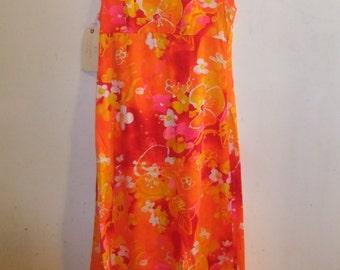 1950's Hawaiian Maxi Dress
