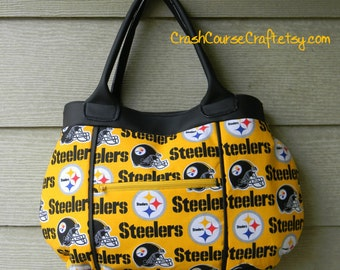 Pittsburgh Steelers Purse - NFL Team Handbag - FREE SHIPPING (United States Only) Other teams available