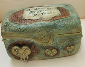 Wedding Ring Box / Ring Bearer Carved Box